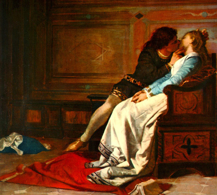 dantes francesca and paolo she loves Paolo and francesca in canto v  emphasizes the admiration of dante for love poetry the story narrates that francesca and paolo are both punished in hell for their.